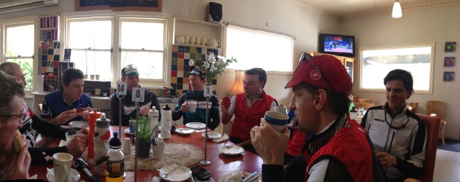 GreenWEDGE Cycling at Lunch at the Smiths Gully General Store